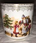 ANTIQUE GERMAN PORCELAIN CHINA CUP - SANTA/FATHER WITH CHILDREN!