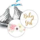 108 Boho Girl Baby Shower Hershey Kiss Stickers Party Favors Decoration Pink
