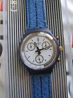 Swatch Skipper SCN100 1990  Chrono 37mm Leather