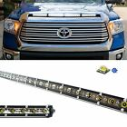108W 36 LED Light Bar w Hood Scoop Bulge Mounting Wiring For 14+ Toyota Tundra