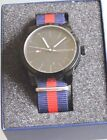 Tommy Hilfiger Original Men Fashion Watch with Blue with Red Stripe Band
