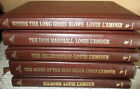 Lot D 5 Louis LAmour Louie Western Westerns Leatherette Hardcovers LAMOUR