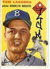 Tommy Lasorda Autographed Auto Baseball Card 1954 Topps RC Rookie Dodgers COA