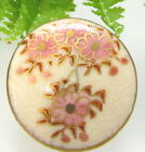 LOVELY SATSUMA BUTTON WITH PINK CHERRY BLOSSOMS T1