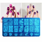 10 Design Stencil Nail Art Image Stamp Stamping Plate Manicure Template DIY