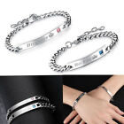 His Queen Her King His and Hers Love Couple Bracelet Bangle With Cubic Zirconia