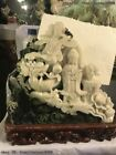 Dushan Jade Stone Carving Phoenix dragon Tongzi Child Kwan-yin Guanyin statues