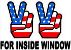 1960s Peace Sign Stickers INSIDE GLASS WINDOW Retro Vintage Hippie Decal