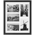 Upgraded Tempered Glass Collage Picture Frame 4x6 Picture with Mat Free Ship