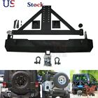 Rock Crawler Rear Bumper & Tire Carrier Swing For Jeep Wrangler TJ 97-06 YJ US