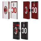 PERSONALISED AC MILAN 2017/18 KIT LEATHER BOOK CASE FOR MICROSOFT NOKIA PHONES