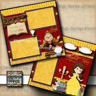Disney Beauty  Beast 2 premade scrapbook pages Enchanted Tales Belle Digiscrap