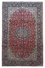 Semi-Antique Navy and Red Persian Very Fine Isfahan Oriental Large Area Rug 8X12