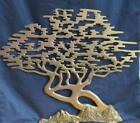 VTG Brass Bonsai Cypress Tree of Life Wall Hanging Art Asian Decor 20 x 15 MCM