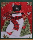 36 X 44 Panel Snowman Christmas Holiday Winter Cotton Fabric Panel D38110