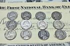 WAR NICKELSAll Years and Mint Marks 12 Count 1942 1945 PDSMUST SEEE READ