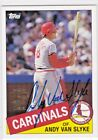 Andy Van Slyke St. Louis Cardinals 2005 Topps MLB All-Time Fan Favorites AUTO 85