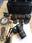 Canon EOS Rebel T1i EOS 500D 151MP Digital SLR Camera Black Bundle