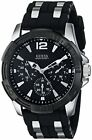 NEW Guess U0366G1 Men's Iconic Black Dial Steel & Silicone Strap Watch
