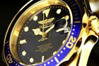 8937 Invicta Pro Diver Mens 38MM Blue Dial 18k Gold Plated Stainless Steel Watch