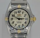 Ladies Breitling Callistino Watch in 18K & Stainless, Box & Papers, B52045.1