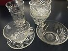 Vintage Early American Clear Glass Oatmeal Dishes-Bowls, Glass, Cup and Saucer
