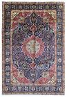 Semi-Antique Navy and Red Very Fine Persian Tabriz Oriental Rug 8'4X9'7
