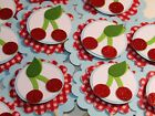 12 Cherry Summer Cupcake Toppers Party Fun Decoration Cake Topper