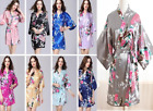 Women robe Silk Satin Robes Bridal Wedding Bridesmaid Bride Gown kimono robe