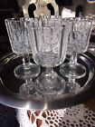 WESTMORELAND Paneled Grape Clear Water Goblets SET OF 4