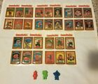 1986 GARBAGE PAIL KIDS CHEAP TOY MINI FIGURE VINTAGE LOT AND STICKERS