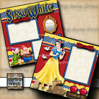 DISNEY SNOW WHITE 2 premade scrapbook pages paper piecing princess By Digiscrap