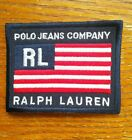 Vintage Polo Jeans Company Ralph Lauren USA Flag Patch