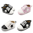 So Comfortable New Arrival Baby Boy Girl Pram Shoes Faux Leather Sneakers 0 18 M
