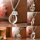 Wish Glass Real Dandelion Seeds In Glass Wish Bottle Chain Necklace Pendant