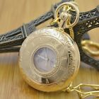 Pure Cooper Three Dials Wind Up Mechanical Pocket Watch Snake Chain Hollow Case