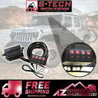 S Tech 4 Switch System with Relay Center Red Dual LED 09 18 Jeep Wrangler JK