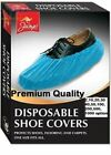 Premium 3.5g disposable shoe covers overshoes blue embossed multi listing