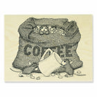 New Release Stampendous House Mouse Coffee Break Rubber Stamp