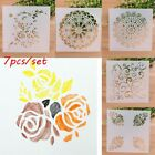 7PCS SET Layering Stencils Scrapbooking Embossing Template Wall Painting