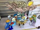 Stain Glass Christmas Nativity Scene EXQUISITE Handmade by Cloistered Nuns