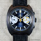 DUGENA RACING CHRONOGRAPH 1970s OVERSIZED STAINLESS STEEL BLUE DIAL ORANGE 7733
