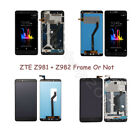 LOT Replace LCD Display Touch Screen Digitizer + Frame For ZTE Z981 Z982 Z971