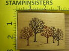Rubber Stamp Winter Woods Rubber Stampede Trees Nature Stampinsisters 789