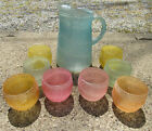 Pitcher roly poly tumblers