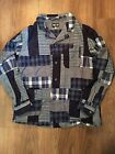 Rough and Tumble Patchwork Shirt Jacket Size Small