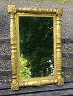 VINTAGE ANTIQUE ORNATE FEDERAL GILT DECORATED LOOKING GLASS MIRROR