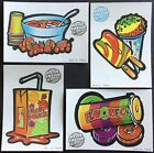 Vintage Classic Set of 4 Mello Smello Scratch  Sniff Stickers Fruit Punch