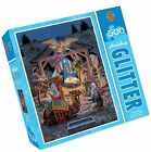 MasterPieces Holiday Glitter Holy Night Nativity Scene 500 Piece Jigsaw New