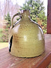 Civil War Era Buggy Jug Whisky strap handle NC Saltglaze Craven Pottery